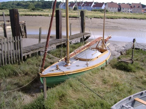 Constance snug at low tide