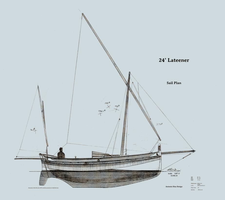 24'-Lateener-Sail-Plan