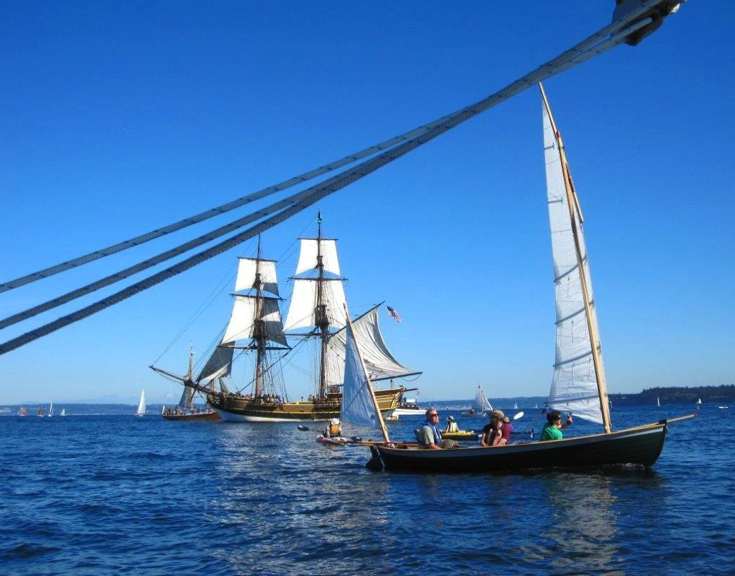 Wilbur Larch at Port Townsend, from the Doryman