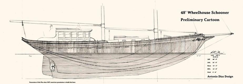A 48′ WheelhouseSchooner