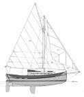 23' Coastal Cutter, Sail Plan