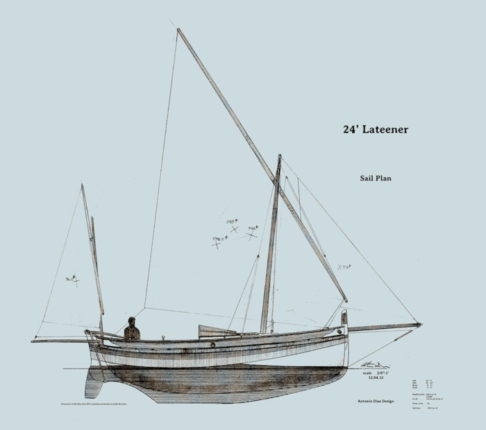 24'-Lateener-Sail-Plan
