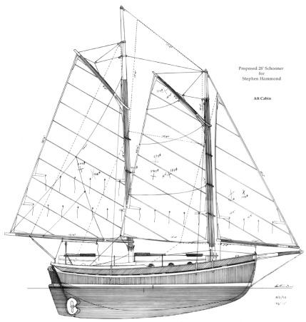 28' Schooner Sail Plan, Aft Cabin