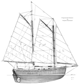 28' Schooner Sail Plan