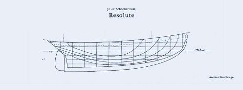 32.5'-Schooner-Boat-lines