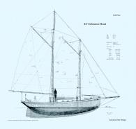 32' Schooner Boat Sail Plan BP