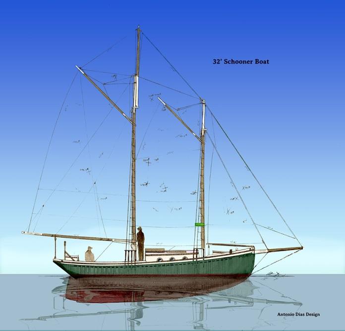 32'-Schooner-Boat-Sail-Plan