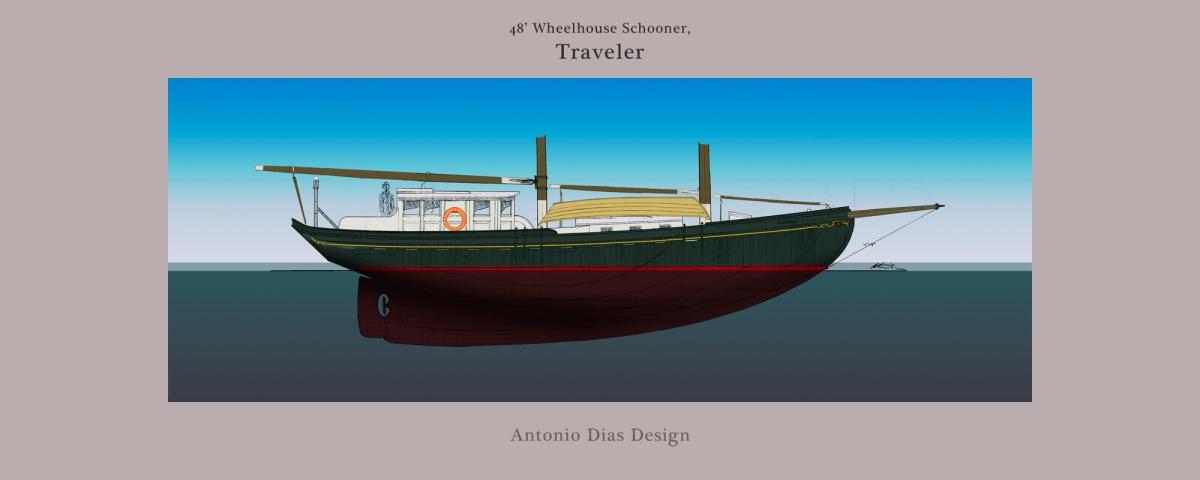 48' Wheelhouse Schooner