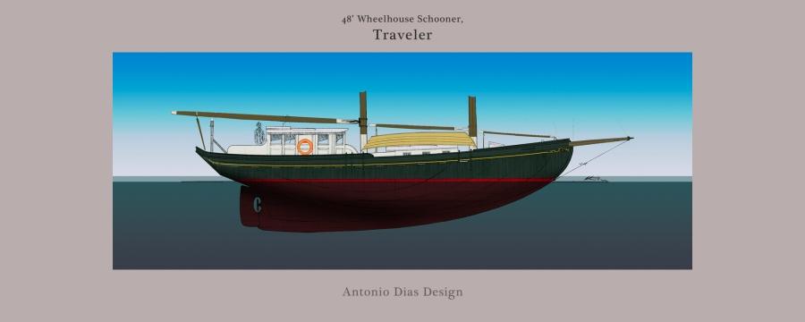 48′ Wheelhouse Schooner