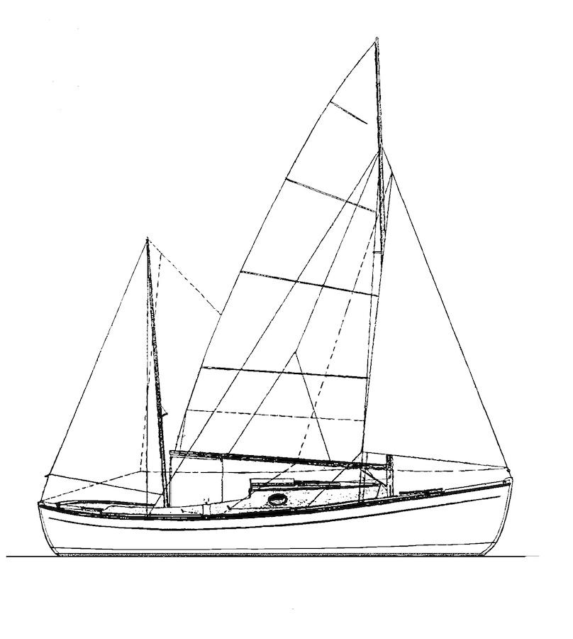 Beach Point 22 5 Yawl Rig | Antonio Dias Design