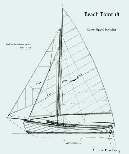 Beach Point Daysailer Cutter Sail Plan keeled