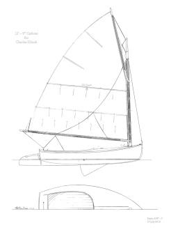 Catboat Sail Plan 8x10