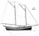Clipper Pinky Sail Plan