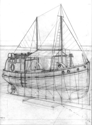 CP Dias Dragger Yacht, Perspective