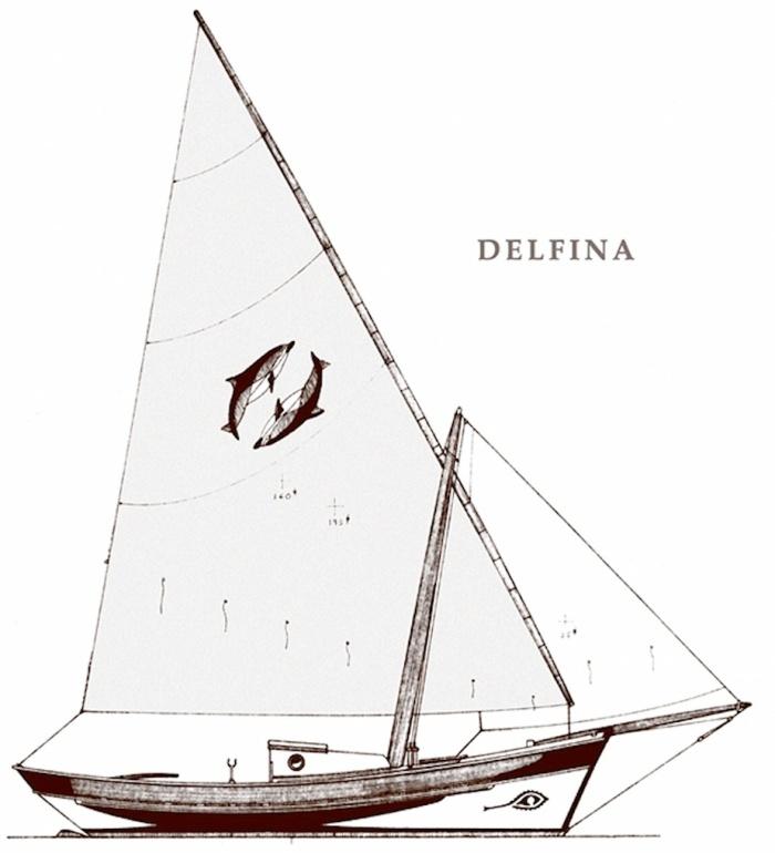 Delfina Sail Plan Sepia