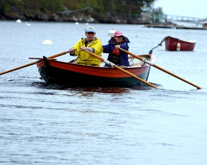 Jenny and me rowing