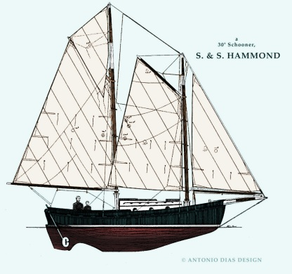 S & S Hammond Sail Plan