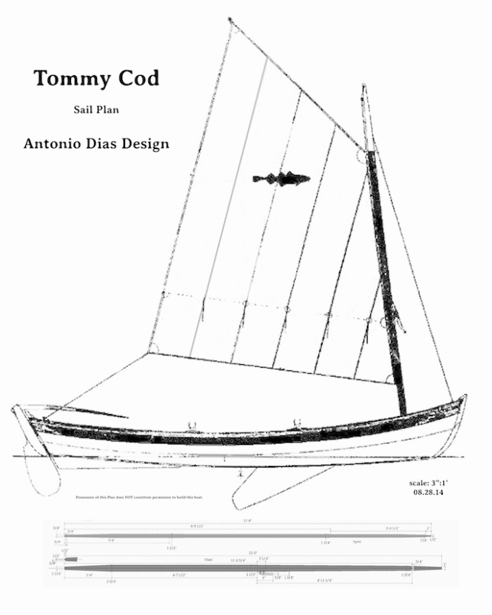 Tommy Cod Sail Plan