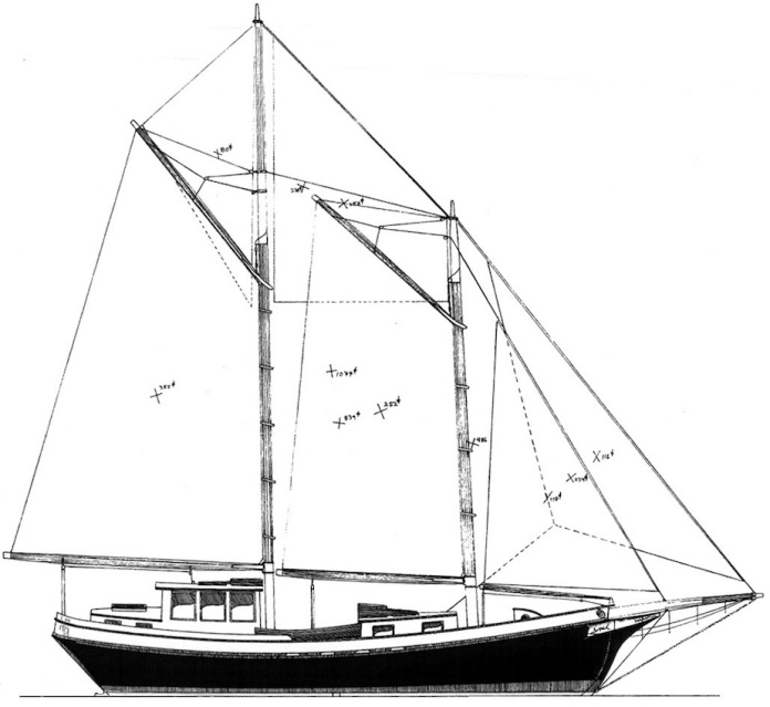 Wood End, sail plan