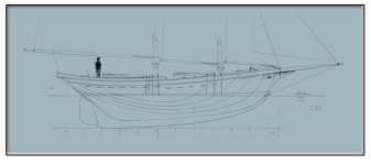 40' Waterline Schooner Blueprint feature