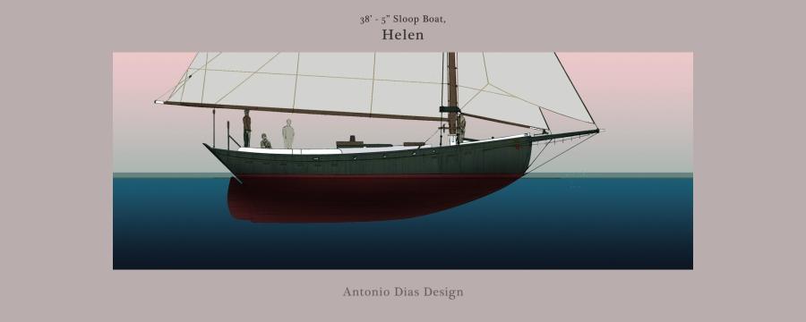 38′ Sloop Boat,Helen