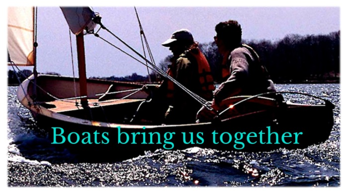 Boats bring us together pos with tagline