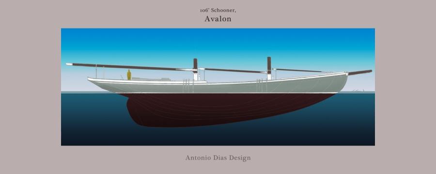 Avalon, a 106′Schooner
