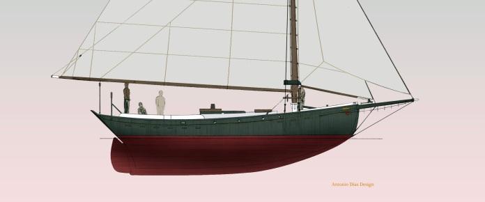 38' Raised Deck Sloop Helen Profile