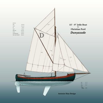 Dunyazade Sail Plan