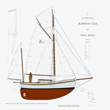 Kathleen Gee Yawl Sail Plan 2k