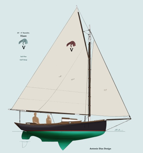 Vixen Sail Plan Illustration