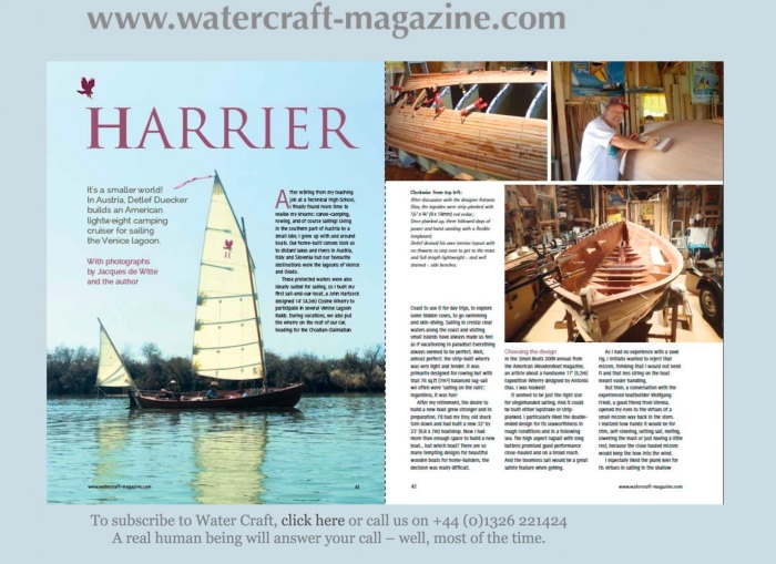 WaterCraft Harrier article